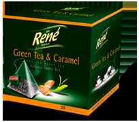 Pyramid Teas Green Tea & Caramel - Rene Cafe