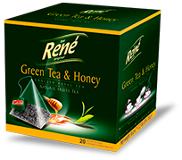Pyramid Teas Green Tea & Honey - Rene Cafe