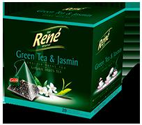 Pyramid Teas Green Tea & Jasmin - Rene Cafe