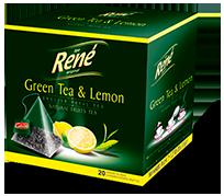 Pyramid Teas Green Tea & Lemon - Rene Cafe