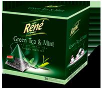 Pyramid Teas Green Tea & Mint - Rene Cafe