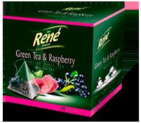Pyramid Teas Green Tea & Raspberry - Rene Cafe