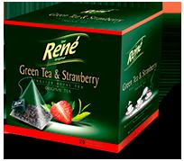 Pyramid Teas Green Tea & Strawberry - Rene Cafe