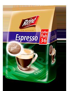 Coffee Pads Espresso 36 - Rene Cafe