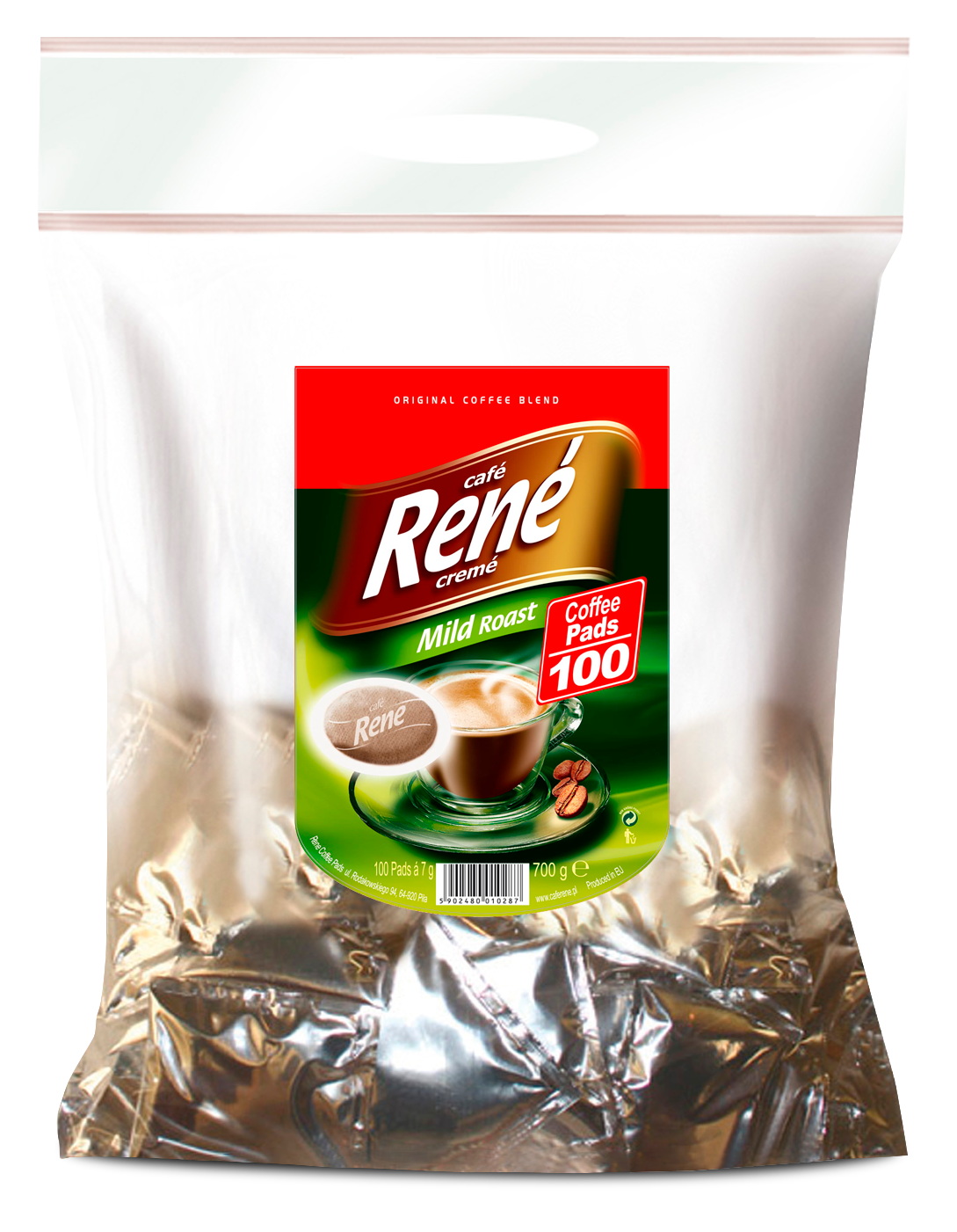 Coffee Pads Mild 100 - Rene Cafe