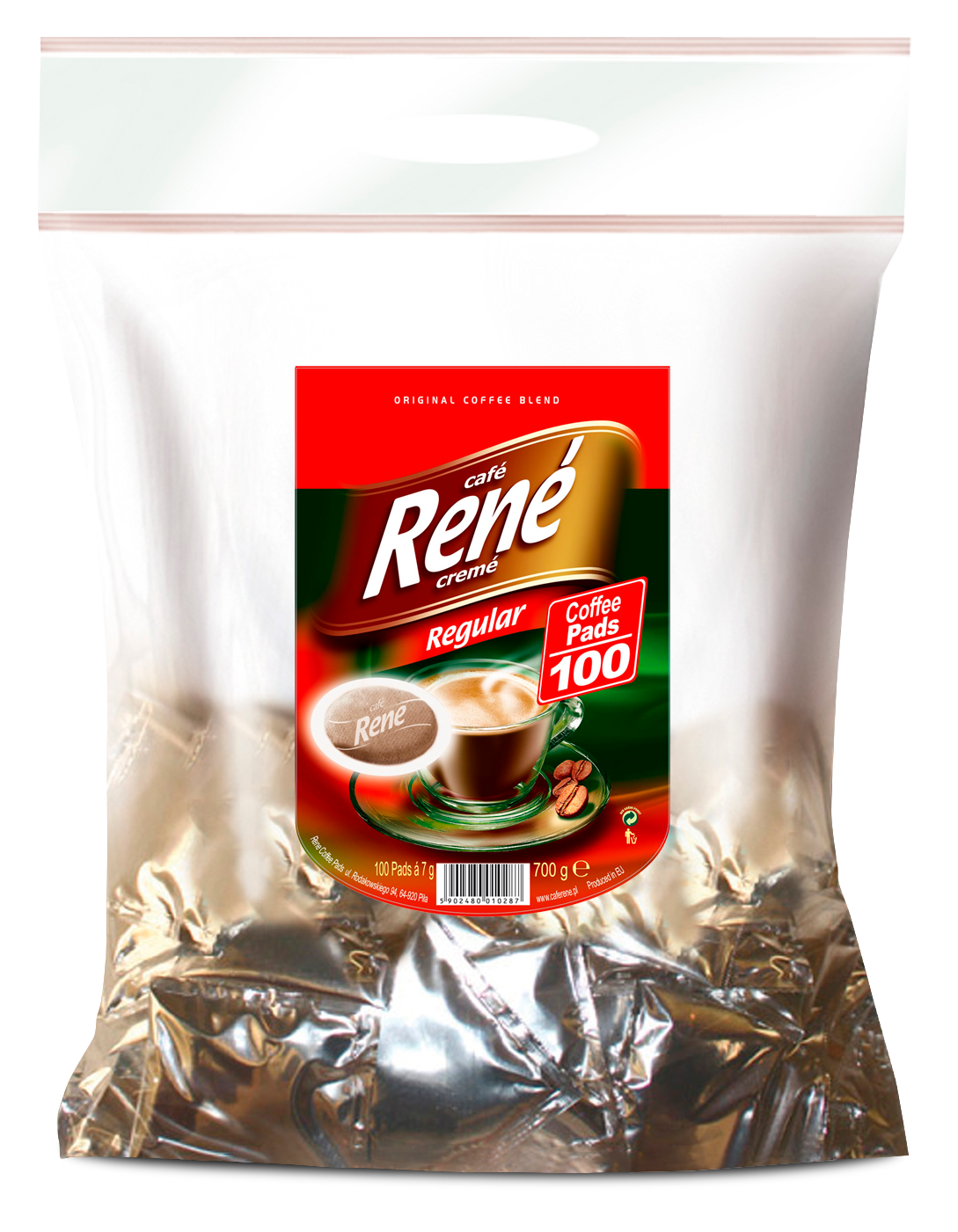 Coffee Pads Regular 100 - Rene Cafe